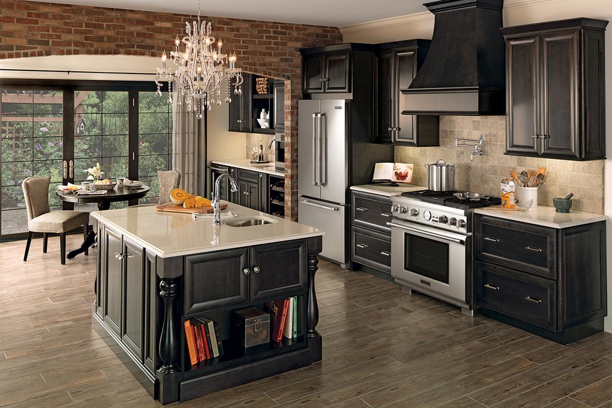 Merillat Classic Bayville Kitchen in Maple Dusk